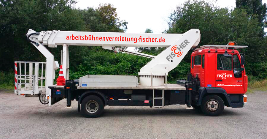 Vermietung von LKW-Arbeitsbühnen